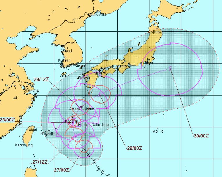 台風22号,JTWC